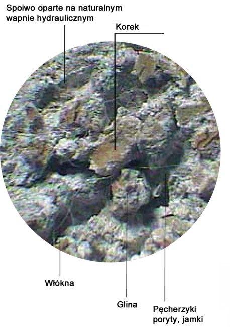 wycinek tynku Diathonite